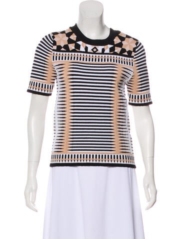 Torn by Ronny Kobo Patterned Knit Top None