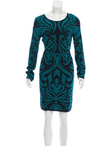 Torn by Ronny Kobo Long Sleeve Knit Dress None