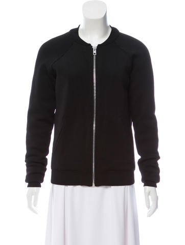 Torn by Ronny Kobo Zip-Up Knit Jacket None