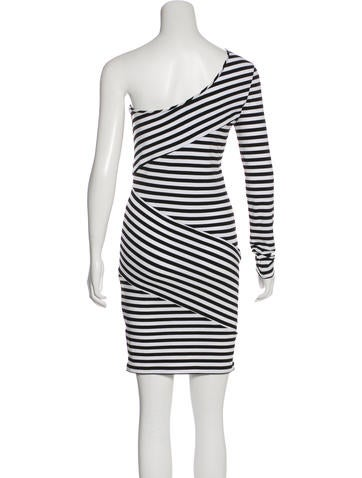 Torn By Ronny Kobo Striped One Shoulder Dress Clothing Wt525380