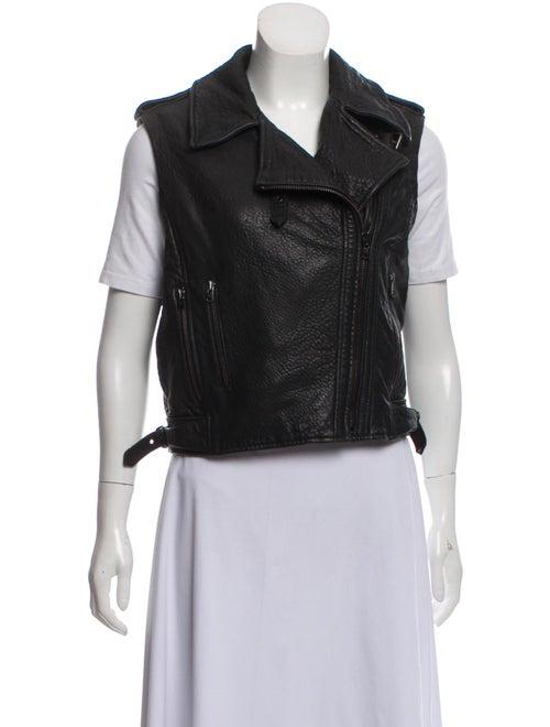 Twenty8Twelve Lamb Leather Vest Black