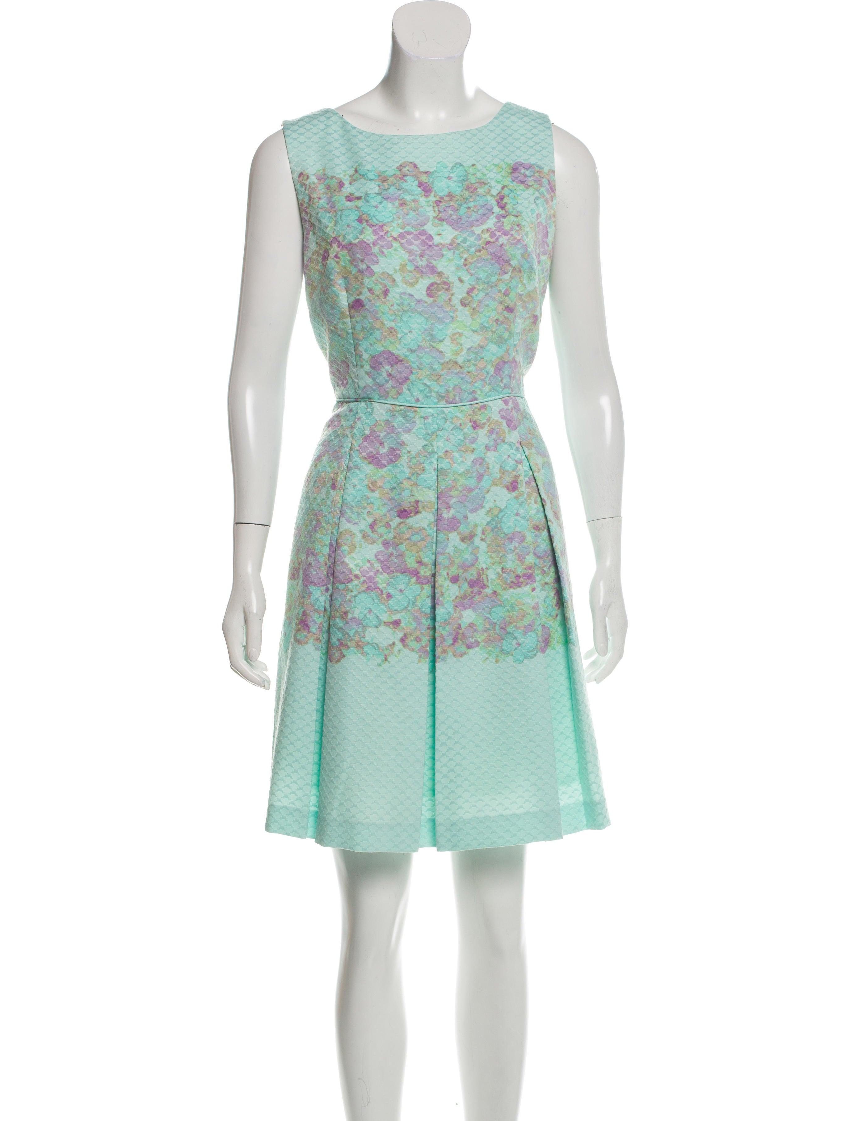 ffe7da54b7c2 Tahari Arthur S. Levine Embroidered Floral Dress - Clothing ...