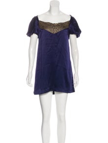 84f0220cfc9c4 Tahari Arthur S. Levine. Short Sleeve Mini Dress. Size: M