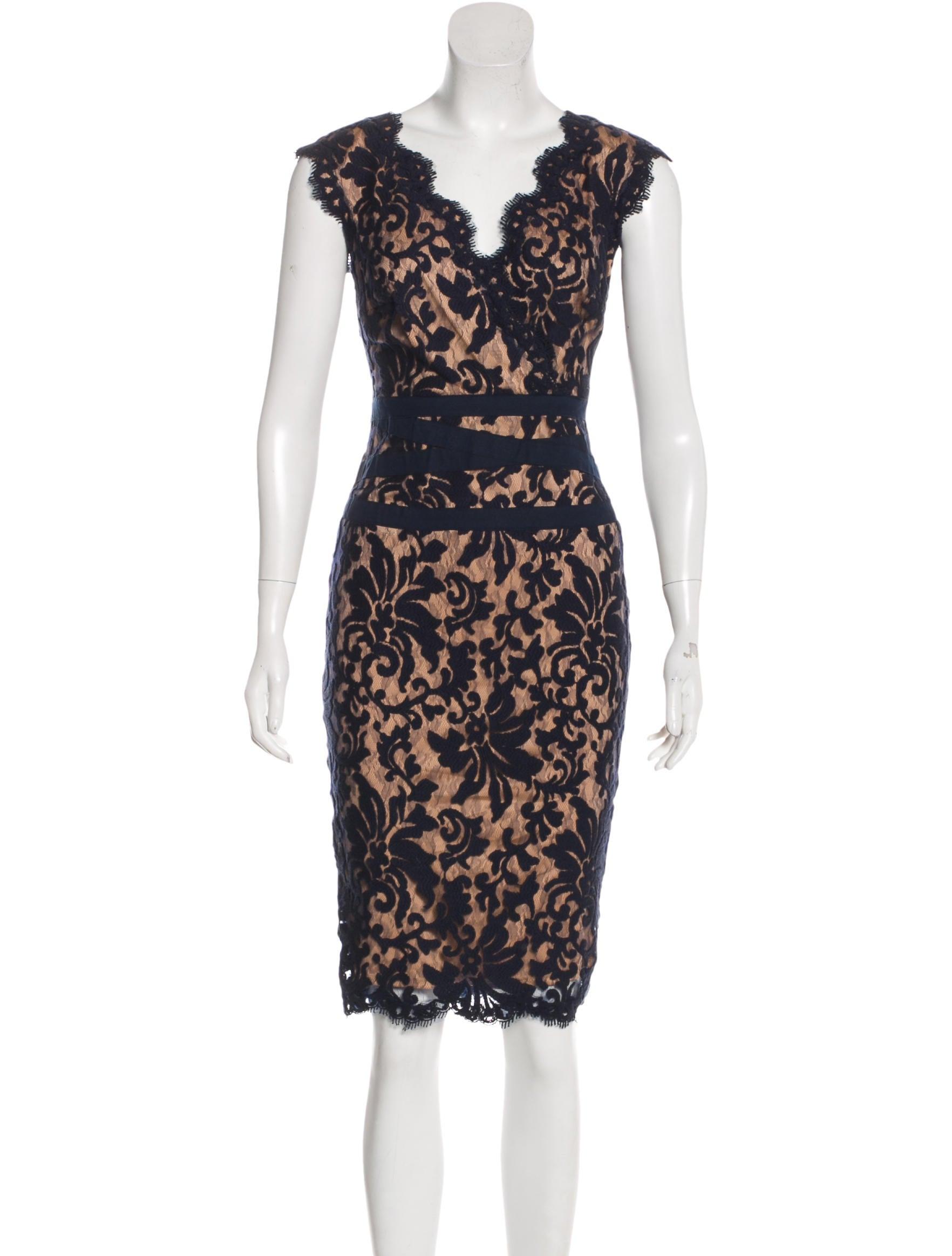 Tadashi Shoji Embroidered Lace Dress - Clothing - WTASH20373 | The ...