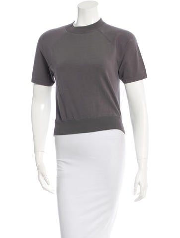 T by Alexander Wang Mesh-Paneled Rib Knit Top None