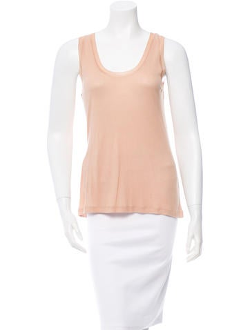 T by Alexander Wang Sleeveless Rib Knit Top None