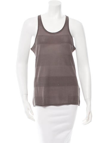 T by Alexander Wang Sleeveless Scoop Neck Top None