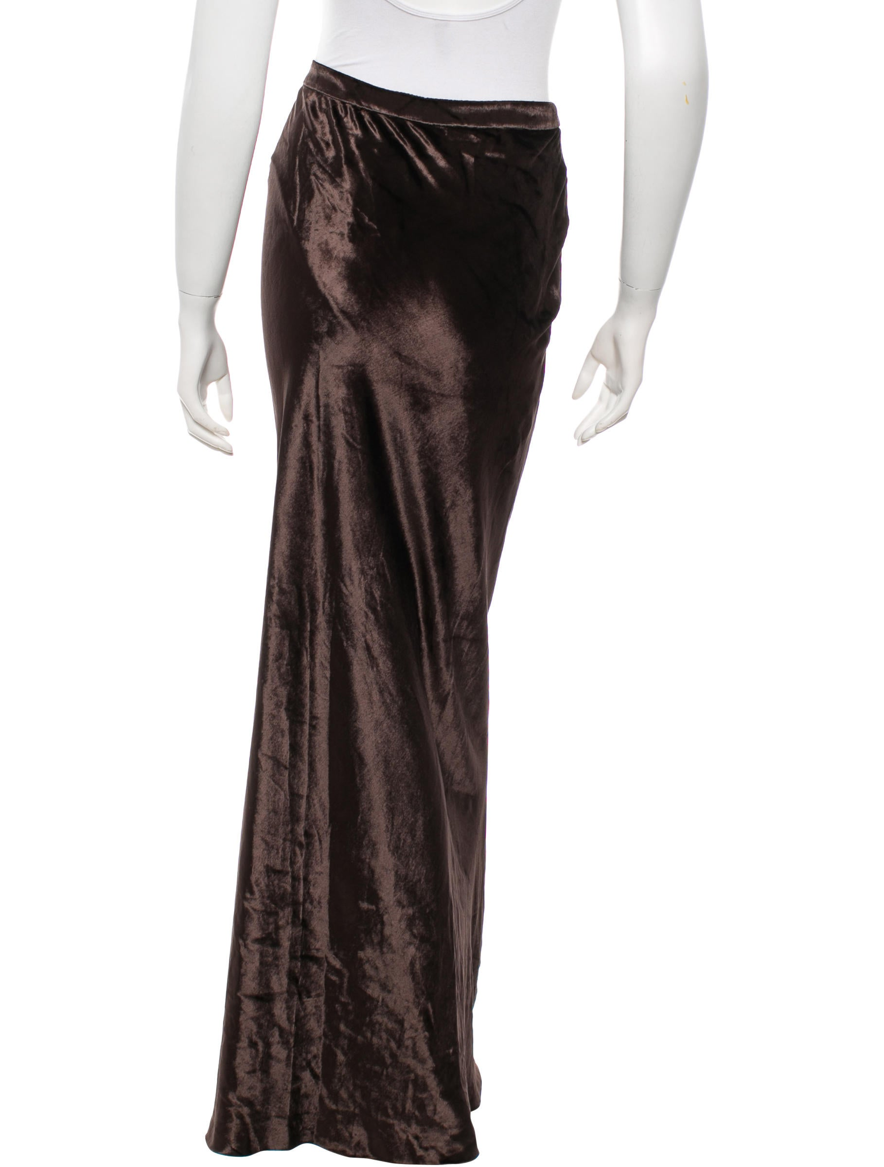 t by wang velvet maxi skirt w tags clothing