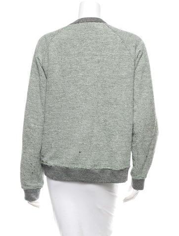 Patterned Pullover Sweatshirt