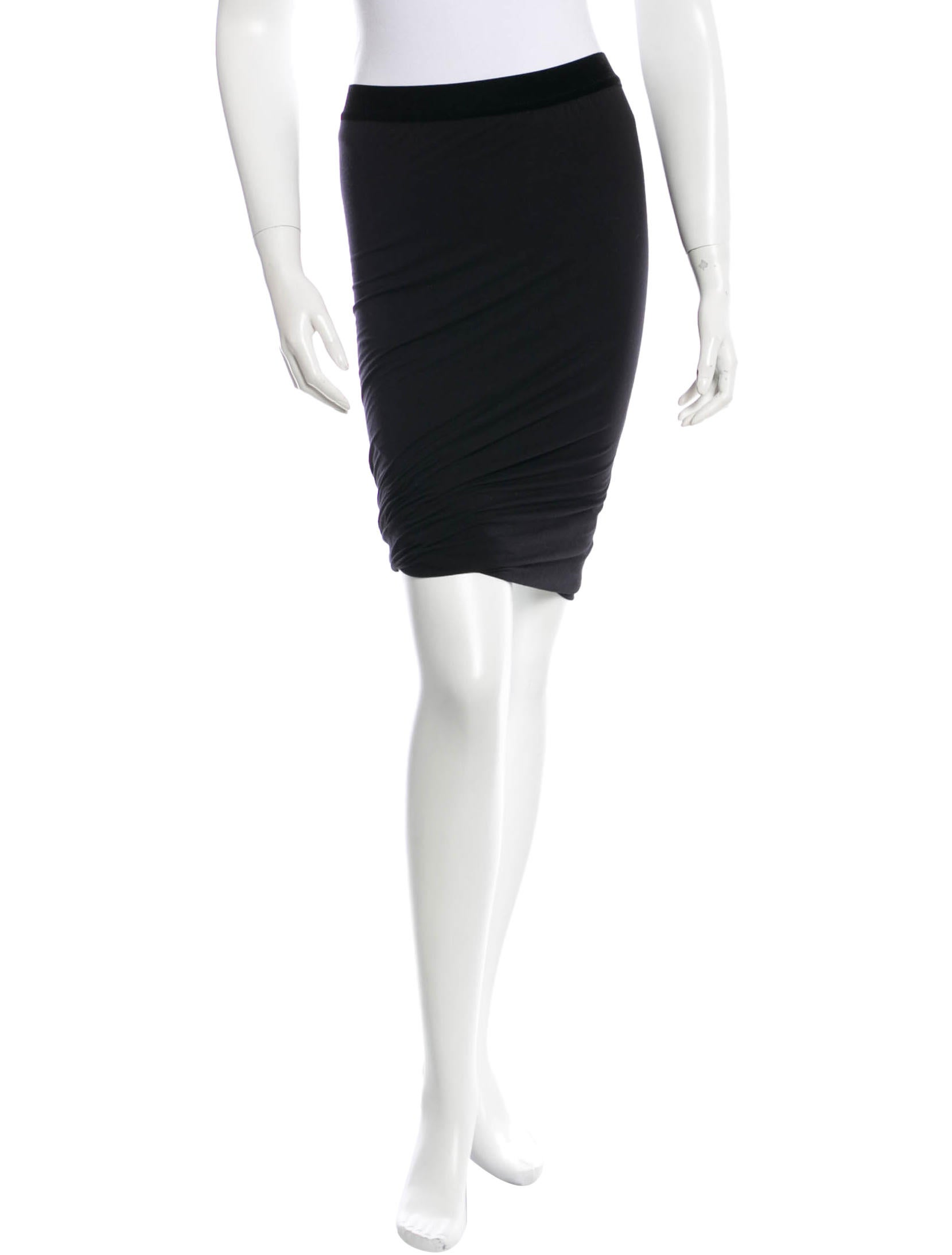 t by wang knee length stretch skirt clothing