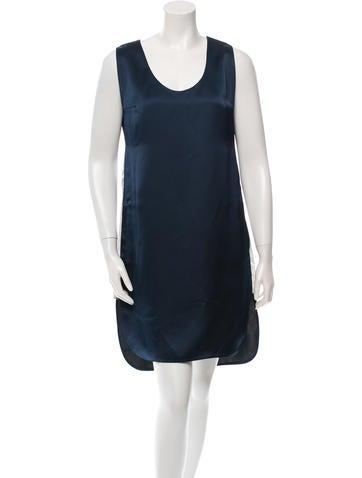 T by Alexander Wang Satin Sleeveless Dress