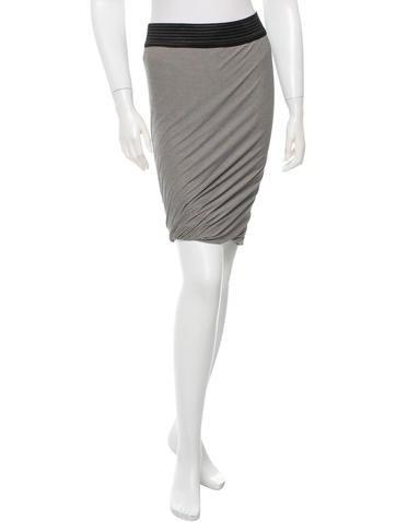 T by Alexander Wang Striped Knee-length Skirt