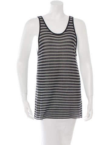 T by Alexander Wang Stripe Knit Tank Top None
