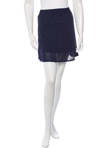 T by Alexander Wang A-Line Mini Skirt None