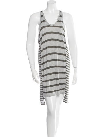 T by Alexander Wang Sleeveless Striped Dress None