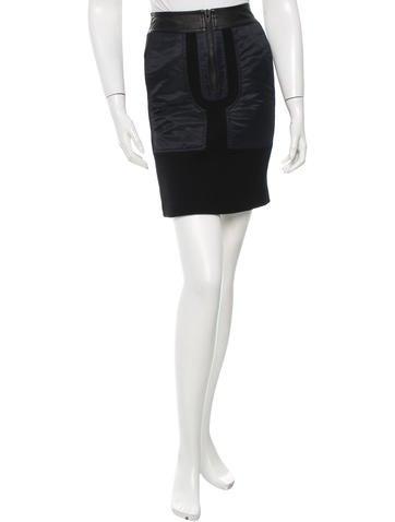 T by Alexander Wang Rib Knit Mini Skirt None