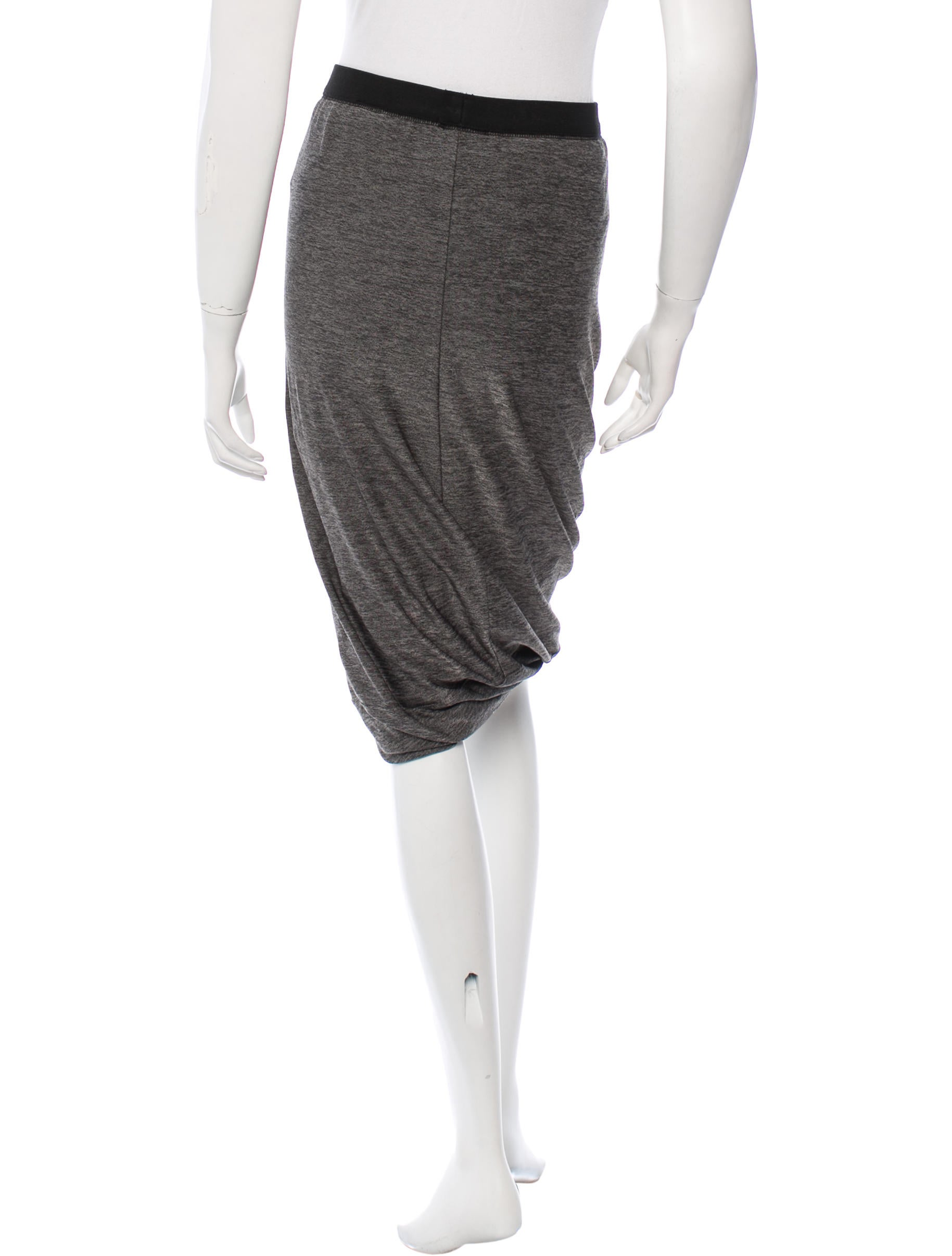t by wang knit knee length skirt clothing