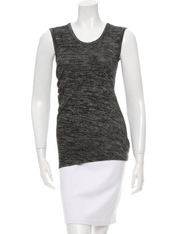 T by Alexander Wang Draped Sleeveless Top None