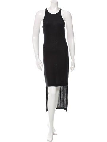 T by Alexander Wang Sleeveless High-Low Dress None