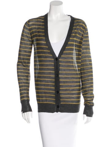 T by Alexander Wang Stripe Wool-Blend Cardigan None