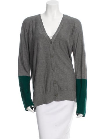 T by Alexander Wang Colorblock Button-Up Cardigan None
