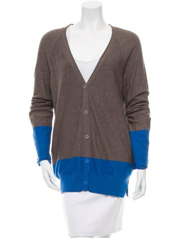 T by Alexander Wang Colorblock Rib Knit Cardigan None