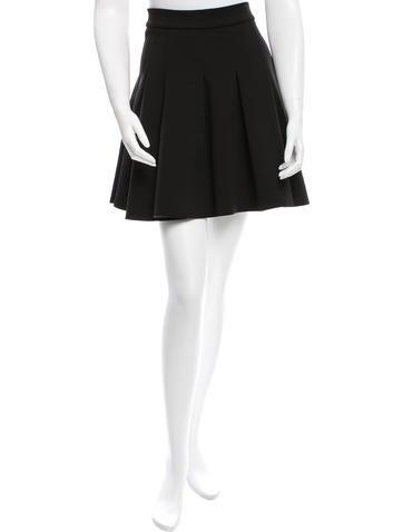 Pleated Neoprene Skirt