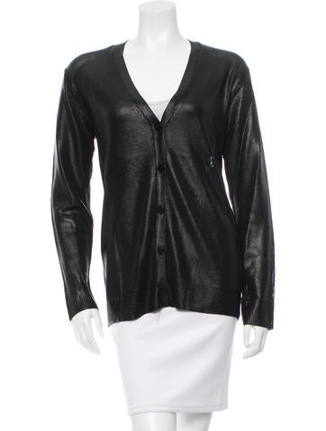 T by Alexander Wang Coated Button-Up Cardigan w/ Tags None