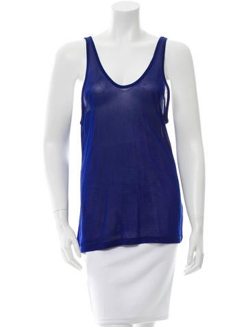 T by Alexander Wang Scoop Neck Sleeveless Top None