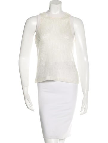 T by Alexander Wang Wool-Blend Sleeveless Top None