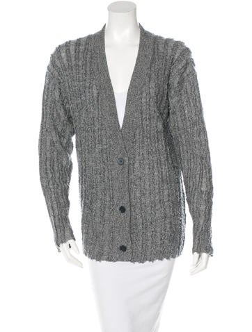 T by Alexander Wang Wool Raw-Edged Cardigan None