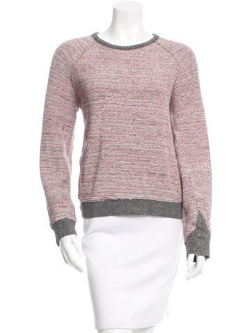 T by Alexander Wang Long Sleeve Scoop Neck Sweater None