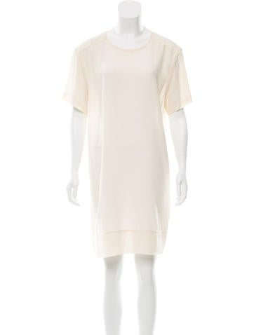 T by Alexander Wang Silk Short Sleeve Dress