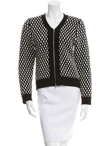 T by Alexander Wang V-Neck Zipped Cardigan None