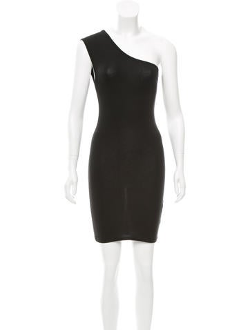 T by Alexander Wang One-Shoulder Mini Dress None