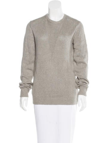 T by Alexander Wang Silk-Blend Rib Knit Sweater None