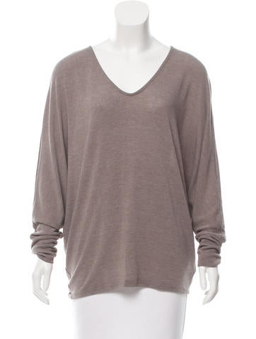 T by Alexander Wang Dolman Sleeves V-Neck Top None