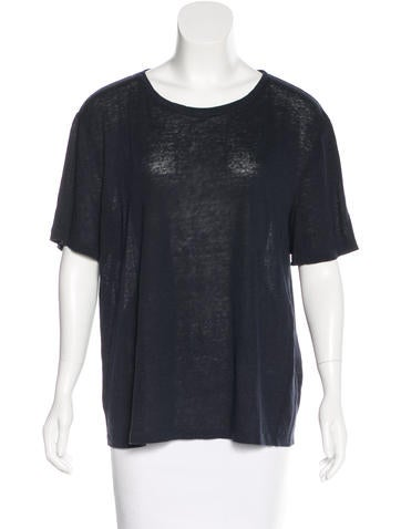 T by Alexander Wang Short Sleeve Linen Top
