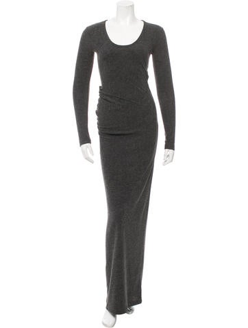 T by Alexander Wang Ruched Maxi Dress None