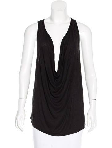 T by Alexander Wang Cowl Neck Racerback Top None