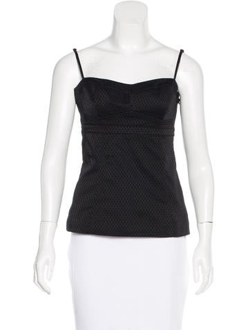 T by Alexander Wang Sleeveless Patterned Top