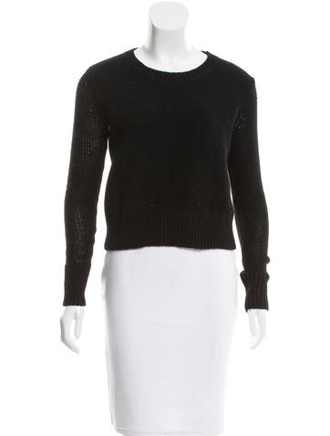 T by Alexander Wang Knit Scoop Neck Sweater None