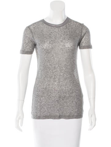 T by Alexander Wang Rib Knit Short Sleeve Top None