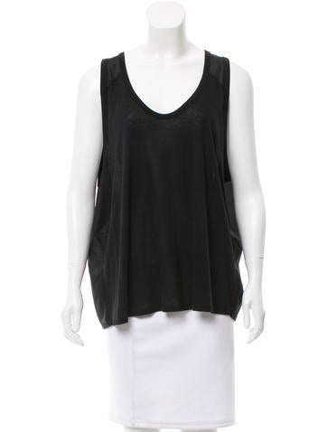 T by Alexander Wang Sleeveless Scoop Neck Top