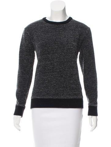 T by Alexander Wang Crew Neck Textured Sweatshirt None
