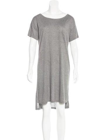 T by Alexander Wang Mélange Jersey Knit Dress None