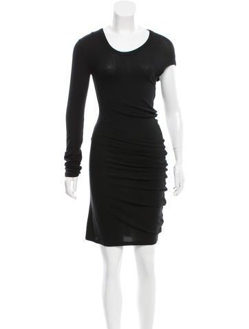 T by Alexander Wang Knit Asymmetrical Dress None