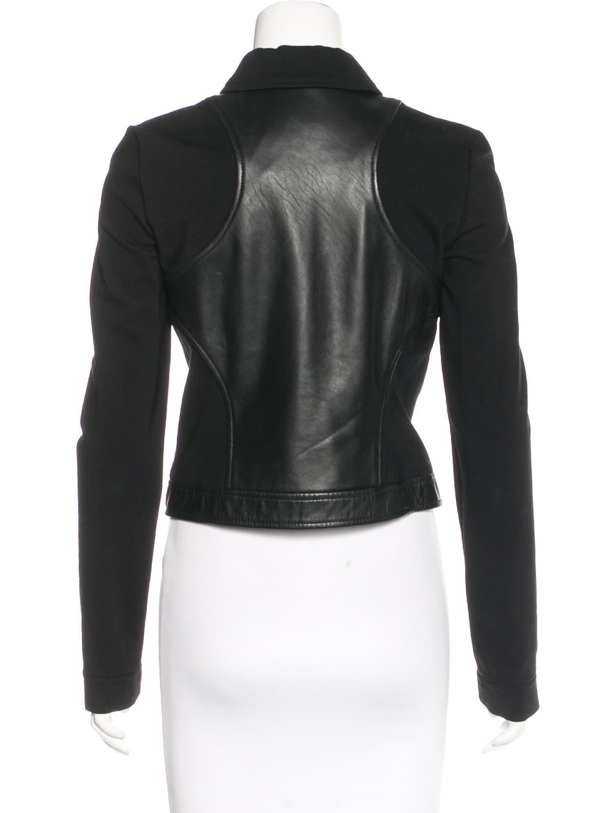 T By Alexander Wang Leather Accented Long Sleeve Jacket