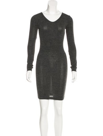 T by Alexander Wang Long Sleeve Bodycon Dress None