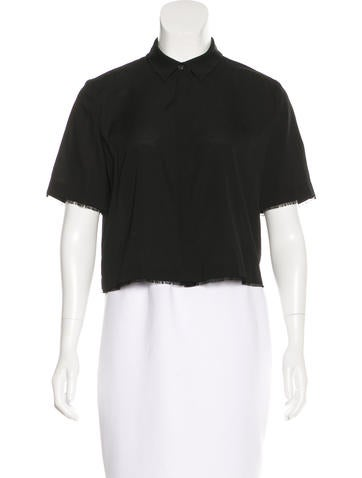 T by Alexander Wang Silk Crop Top w/ Tags None